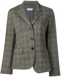 Alberto Biani - Checked Tailored Blazer - Lyst