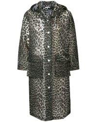 Ganni - Leopard Print Rain Coat - Lyst