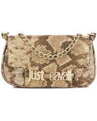 Just Cavalli - Snakeskin Effect Shoulder Bag - Lyst