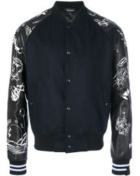 Lanvin - Embroidered Bomber Jacket - Lyst