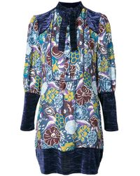 Anna Sui - Printed Tunic Dress - Lyst