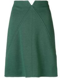 Courreges - High-waisted Short Skirt - Lyst