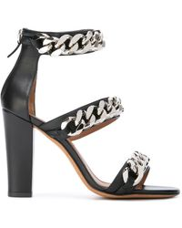 Givenchy - Chain Trim Leather Sandals - Lyst