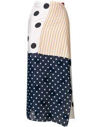 MM6 by Maison Martin Margiela - Patchwork Panelled Skirt - Lyst