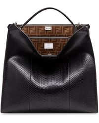 Fendi - Regular Peekaboo X-lite Bag - Lyst