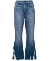 FRAME - Ausgestellte Cropped-Jeans - Lyst