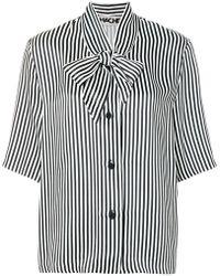 Hache - Oversized Striped Tie-neck Shirt - Lyst