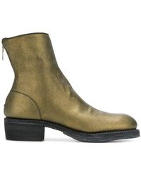 Guidi - Metallic Ankle Boots - Lyst