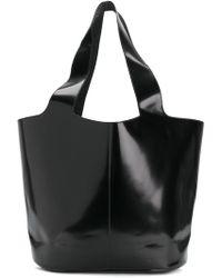 Jil Sander Navy - Varnished Shopping Bag - Lyst