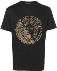 Versace - T-shirt con Medusa - Lyst
