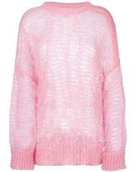 N°21 - Ostrich Feather Sweater - Lyst
