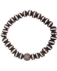 Loree Rodkin - Wood Beaded Pave Diamond Bracelet - Lyst