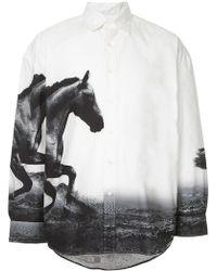 Yoshio Kubo - Printed Horses Shirt - Lyst