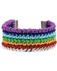 Venessa Arizaga - Silver-plated Rainbow Thread Bracelet - Lyst