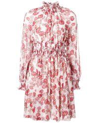 Giambattista Valli - Floral Printed Flared Dress - Lyst
