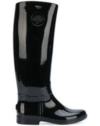 Mulberry - Logo Wellington Boots - Lyst