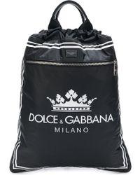 Dolce & Gabbana - Drawstring Logo Backpack - Lyst