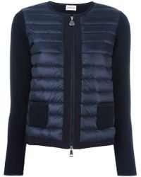 Moncler - Knitted Panel Jacket - Lyst