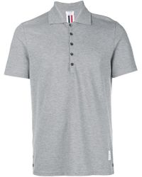 Thom Browne - Center-back Stripe Piqué Polo - Lyst