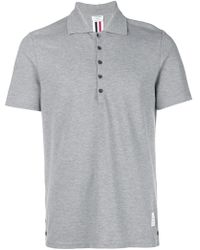 Thom Browne - Center-back Stripe Relaxed Fit Short Sleeve Pique Polo - Lyst