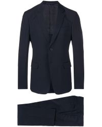 Prada - Slim Single Breasted Suit - Lyst