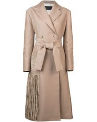 Proenza Schouler - Chenille Embroidered Long Belted Coat - Lyst