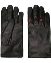 Yang Li Card Suit Embroidered Gloves