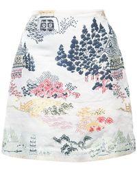 Adam Lippes - Jacquard Mini Skirt - Lyst