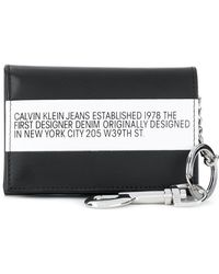 Calvin Klein - Logo Stripe Flap Wallet - Lyst