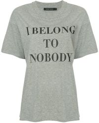 Nobody Denim - Slogan Printed T-shirt - Lyst