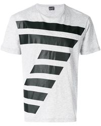 EA7 - Textured Print T-shirt - Lyst