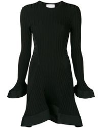 Esteban Cortazar - Knitted Ruffle Trim Mini Dress - Lyst