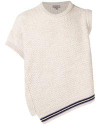 Lanvin - Asymmetric Knit Sweater - Lyst