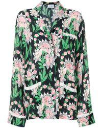 Au Jour Le Jour - Lace Trim Floral Shirt - Lyst