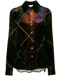 Pierre Louis Mascia - Colour-block Fitted Shirt - Lyst