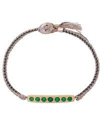 Brooke Gregson - 14kt Gold 7 Emerald Bar Bracelet - Lyst