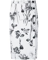 Andrea Marques - Floral Midi Skirt - Lyst