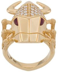Stephen Webster - 18kt Yellow Gold, Diamond And Ruby Toro Beetle Ring - Lyst
