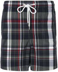 Moncler Gamme Bleu - Plaid Swim Shorts - Lyst