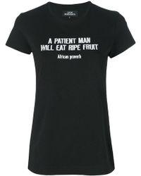 Katya Dobryakova - Embroidered Proverb T-shirt - Lyst
