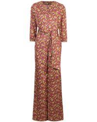 Vanessa Seward - Floral Printed Jumpsuit - Lyst
