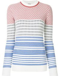 Jil Sander Navy - Graphic Knit Sweater - Lyst