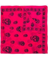 b92c2006b0d8 Lyst - Alexander Mcqueen Snakes And Ladder Print Foulard in Red for Men