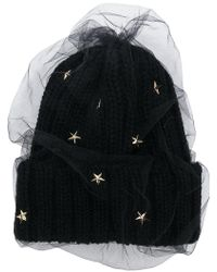 CA4LA - Star Embellished Knitted Hat - Lyst