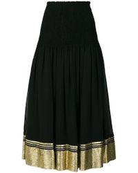 Chloé - Flared Contrast Trim Skirt - Lyst