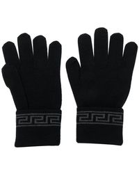 Versace - Grecca Knit Gloves - Lyst