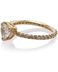 SHAY - 18kt Yellow Gold Solitaire Diamond Heart Ring - Lyst