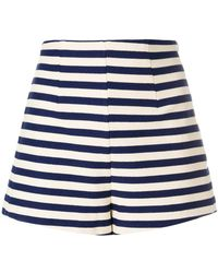 Erika Cavallini Semi Couture - Striped Shorts - Lyst