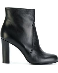 P.A.R.O.S.H. - Block Heel Ankle Boots - Lyst