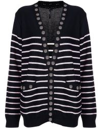 Thomas Wylde | Button Detailed Striped Cardigan | Lyst